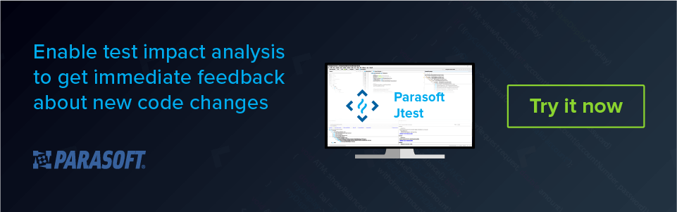 Enable test impact analysis to get immediate feedback about new code changes