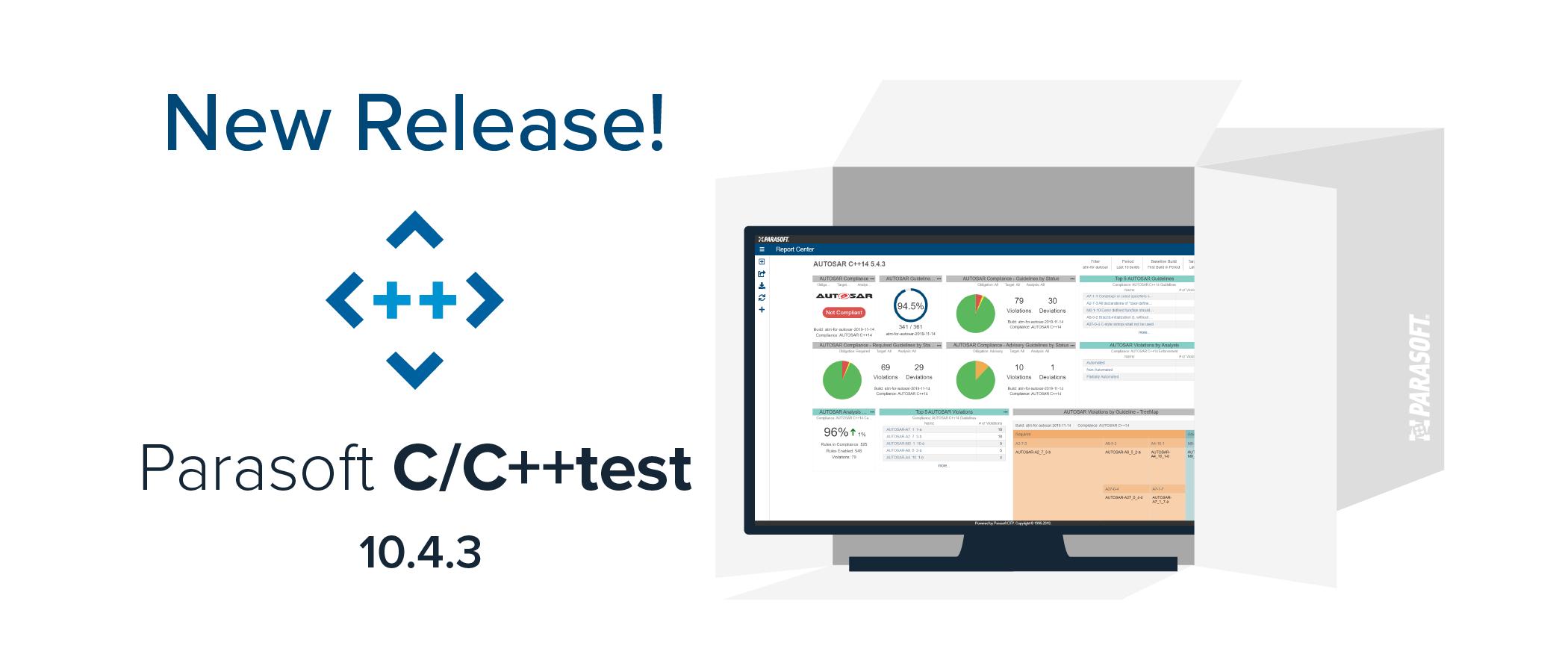 We released Parasoft C/C++test 10.4.3!