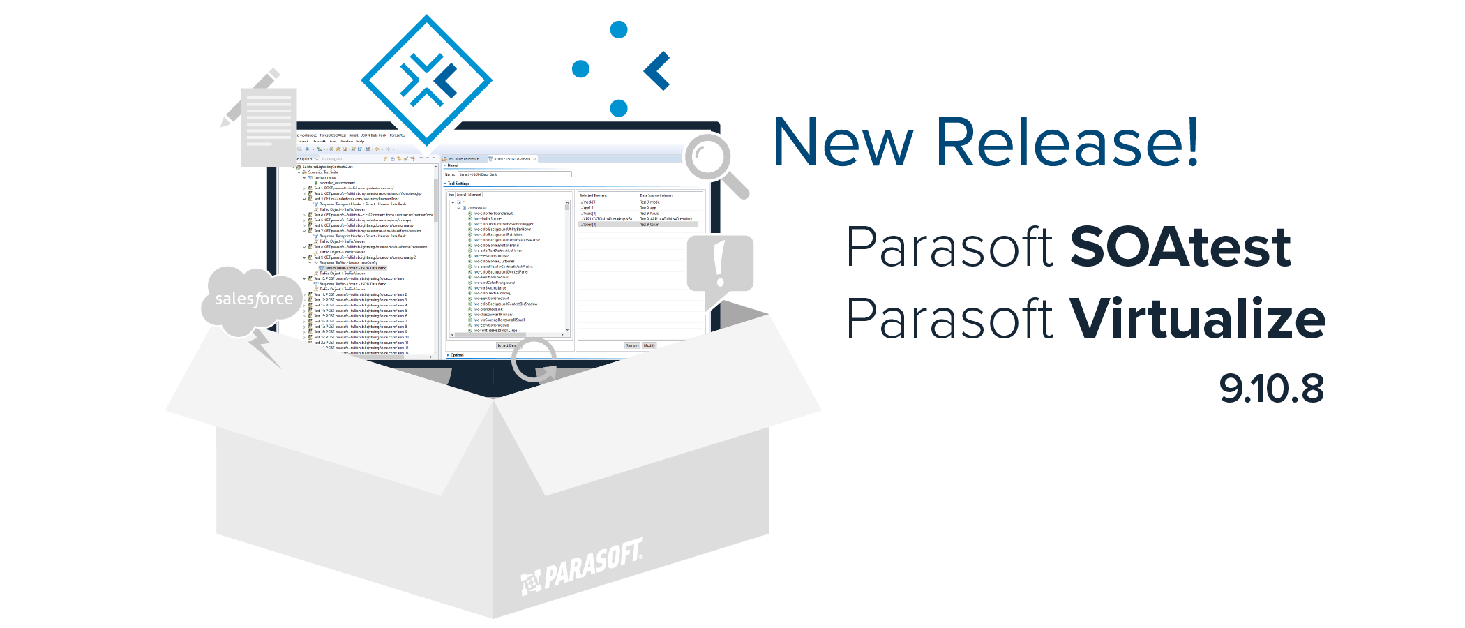New 9.10.8 releases of Parasoft SOAtest and Parasoft Virtualize!