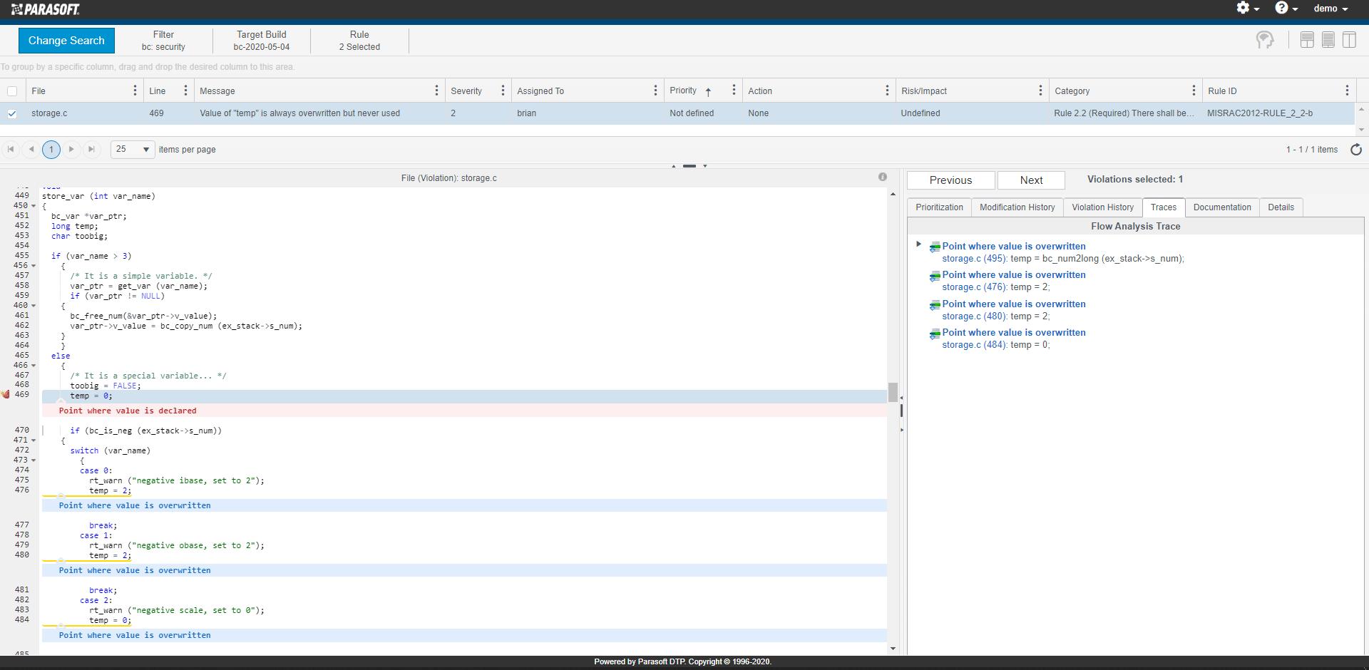 DTP Interactive Navigation Results
