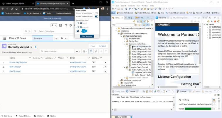 Parasoft SOAtest, Virtualize y la plataforma de prueba continua 2020.2