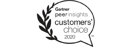 Logo of Gartner peer insights customers' choice 2020