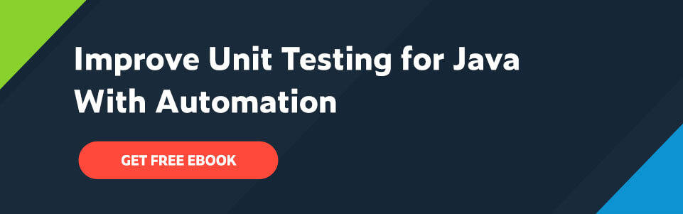 Title text: Improve Unit Testing for Java With Automation; below title is a call to action button: Get Free Ebook