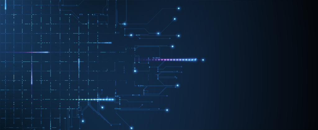 Vector art of electrical signals on a blue background.